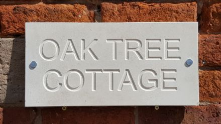 Natural Limestone House Sign (400mm x 200mm)